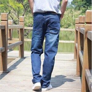 Image 3 - ICPANS Men Jeans Pants Stretch Straight Loose Black Cargo Denim Jeans Men Zipper 2019 New Big Size 40 42 44