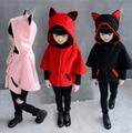 2017 Fashion Children Coat Baby Girls Jacket Bat Design Sleeve Kids Clothes Hoodies Outerwear Spring Children Autumn Costume
