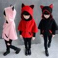 2017 Moda Meninas Crianças Casaco Bebê Jaqueta de Manga Morcego Projeto Roupa Dos Miúdos Hoodies Outerwear Crianças Primavera Outono Traje