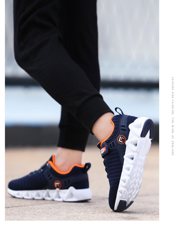 crianças correndo sapatos meninos moda respirável tênis