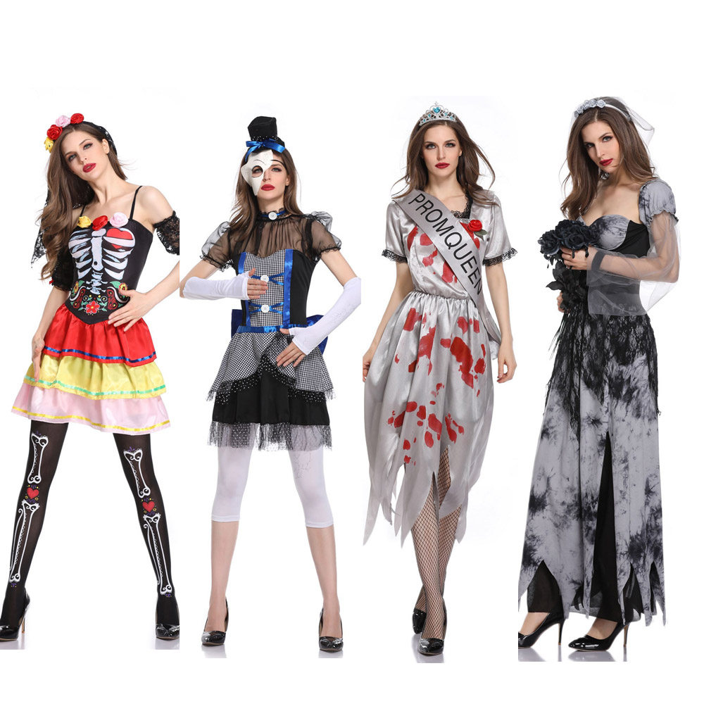 online shop zombie school girl costume uniform scary dead halloween