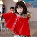 Nueva llegada del otoño y ropa de invierno, infantil capa de lana, chaqueta para las muchachas, envío gratis ropa del bebé