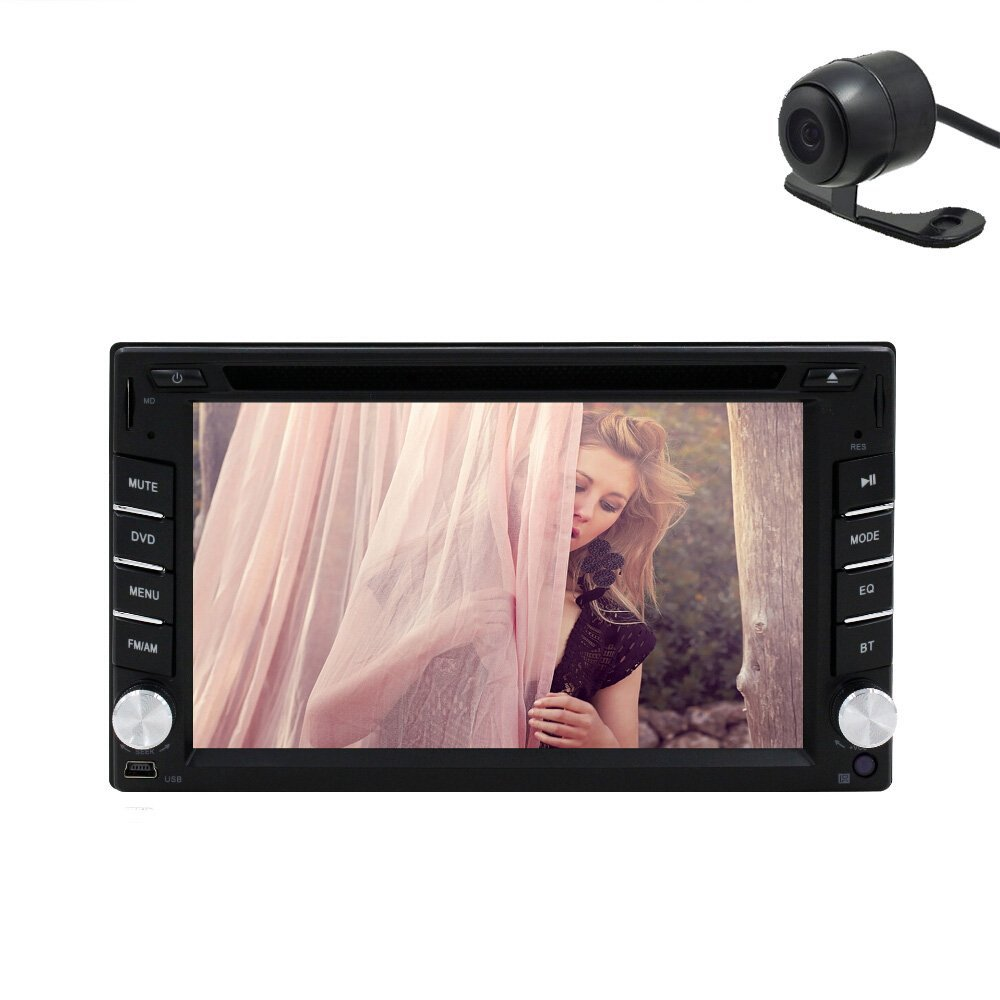 Free HD camera included Windows 8.0 UI CD DVD Player 2 Din Universal Car Stereo Radio 6.2 Inch Touchscreen Camera+Remote control