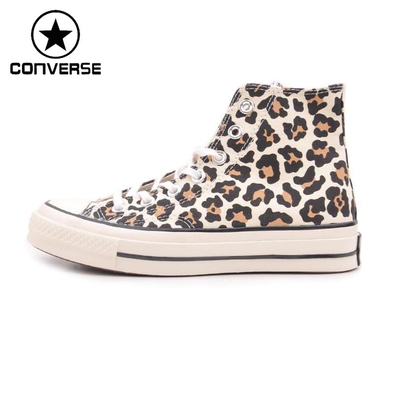 ФОТО Original  converse Unisex skateboarding shoes 144681 Canvas sneakers