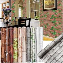цена на PVC Living Room Wallpaper Home Decor Variety Of Styles 3D 45*100cm Bathroom Kitchen Fashion Tv Background Sticker