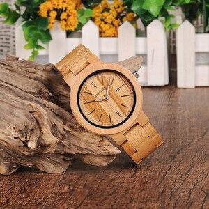 Image 2 - ボボ鳥 LP23 ドロップ無料デザイナー竹木製腕時計男性ステンレス鋼クラスプクォーツレロジオでボックス