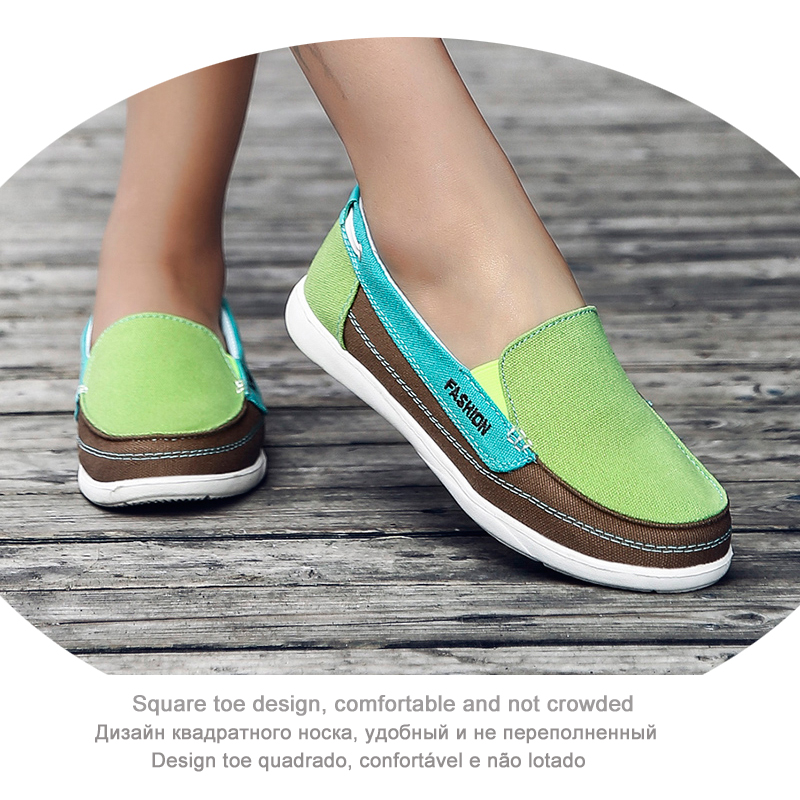 385689fc4285d EOFK Women Canvas shoes Woman Ladies Casual shoes Lady loafers Women's  Flats Slip On Shoes tenis feminino zapatos de mujer