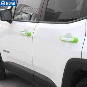 Image 5 - MOPAI ABS سيارة الخارجي الباب غطاء مقبض أعواد تزيين اكسسوارات ل Jeep Renegade 2015 2017 سيارة التصميم