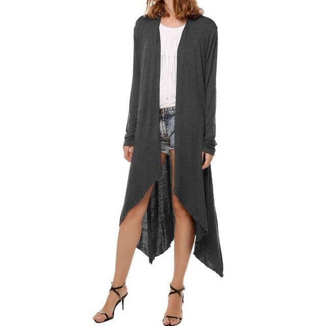 ea5925cb4 Knitted Sleeve Jacket Irregular Long Sleeve Loose Casual Shawl ...