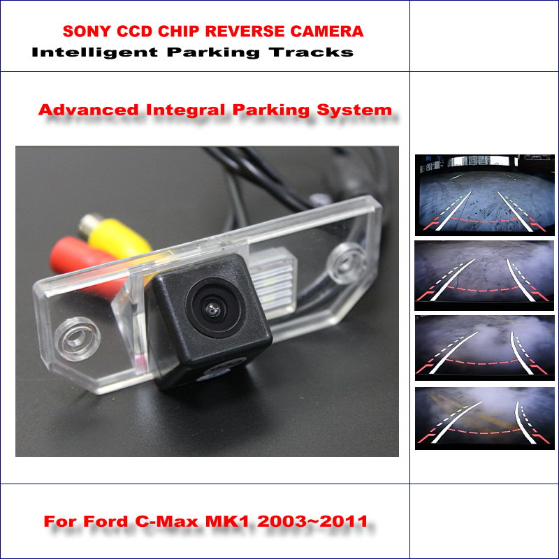 ФОТО HD SONY Car Rear Camera For Ford C-Max MK1 2003~2011 Intelligent Parking Tracks Reverse Backup / NTSC RCA AUX 580 TV Lines