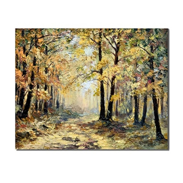 Forest Landscapes Fresh Scene Frameless Canvas Oil Painting Poster Living Room Wall Art Unique Gifts Printed For Home Decoration