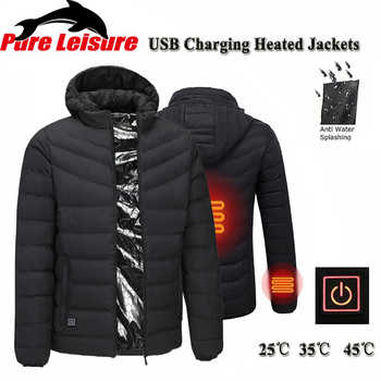 PureLeisure Winter USB Charging Heated Fishing Jackets Men Warm Heating Jackets Smart Thermostat Sports Hunting Skiing Coats - DISCOUNT ITEM  42% OFF Sports & Entertainment