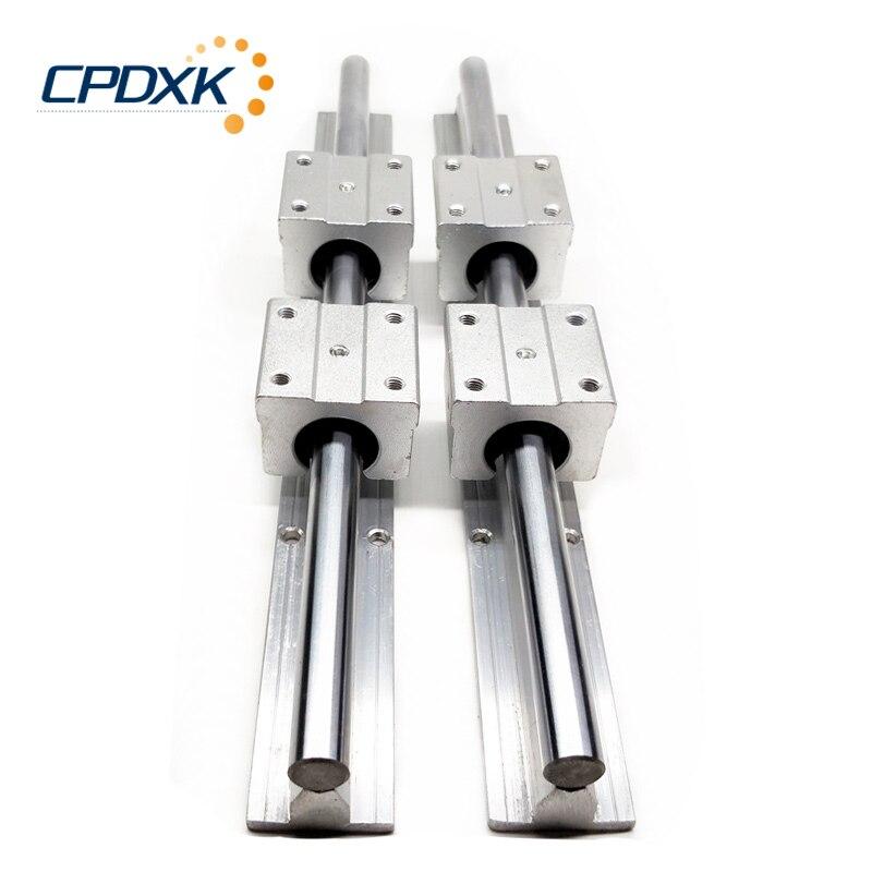 2 pièces linéaire rail SBR20 linéaire guide 1500mm 20mm Linéaire rails + 4 pièces linéaire bloc SBR20UU pour CNC Routeur