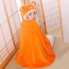 Orange umaru-chan umaru doma cosplay capa manta caliente sweet girl doma umaru cos vestidos anime de lechuga romana del traje