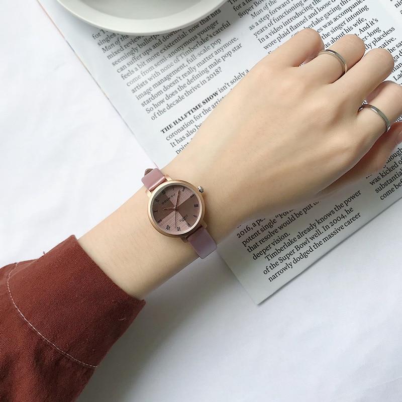 Splice Dial Design Ladies Watches 2019 Luxury Fashion Brand Women Watches Small Quartz Watch Female Vintage Leather Wristwatches