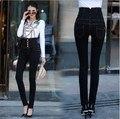 Women Big Size Pencil Jeans Pants Stretch Fabric Plus Size High Waist Jeans Black Skinny For 4 Seasons  XXXL 4XL