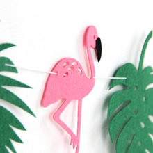 Tropical Style Flamingo Party Decoration Garland