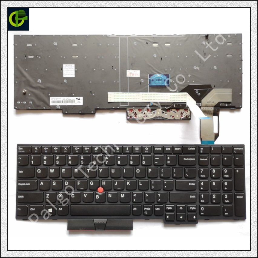 Image 2 - Original Backlit English Keyboard for Lenovo thinkpad E580 L580 L590 P52 P72 E590 E585 E595  01YP680 01YP640 01YP560 SN5372BL US-in Replacement Keyboards from Computer & Office on