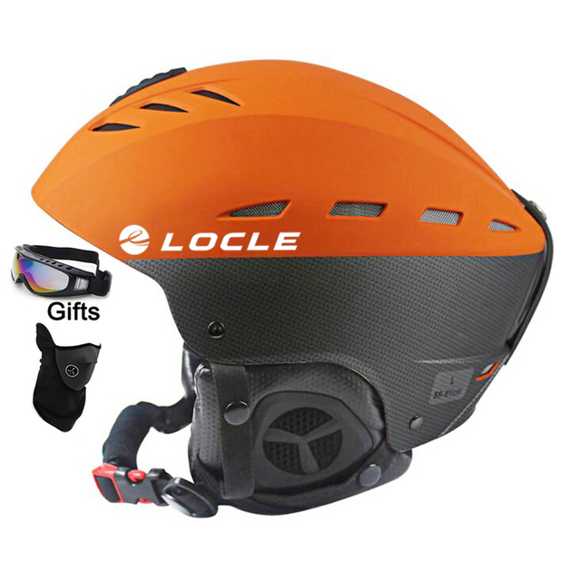 LOCLE למעלה איכות סקי Helme CE הסמכת ABS + EPS סקי קסדת שלג החלקה על סנובורד סקייטבורד קסדת 55-61 CM