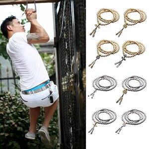 Image 5 - Novo 108 contas de buda colar de aço completo corrente ao ar livre auto defesa mão pulseira corrente edc proteção pessoal multi ferramentas