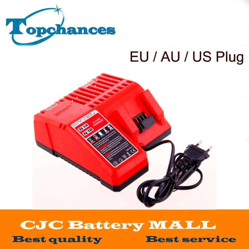 New High Quality 18V Charger for Milwaukee Li-ion Battery 48-11-1820 48-11-1815 48-11-1840 48-11-1828 EU / AU / US Plug te28f800c3ba90 tssop 48