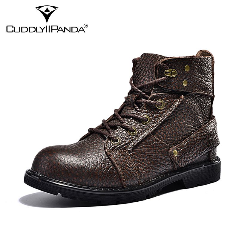 ФОТО 2016 Winter Top Quality Chelsea Boots Men Martin Boots Genuine Leather Tooling Boots Botas Hombre Ankle Boots