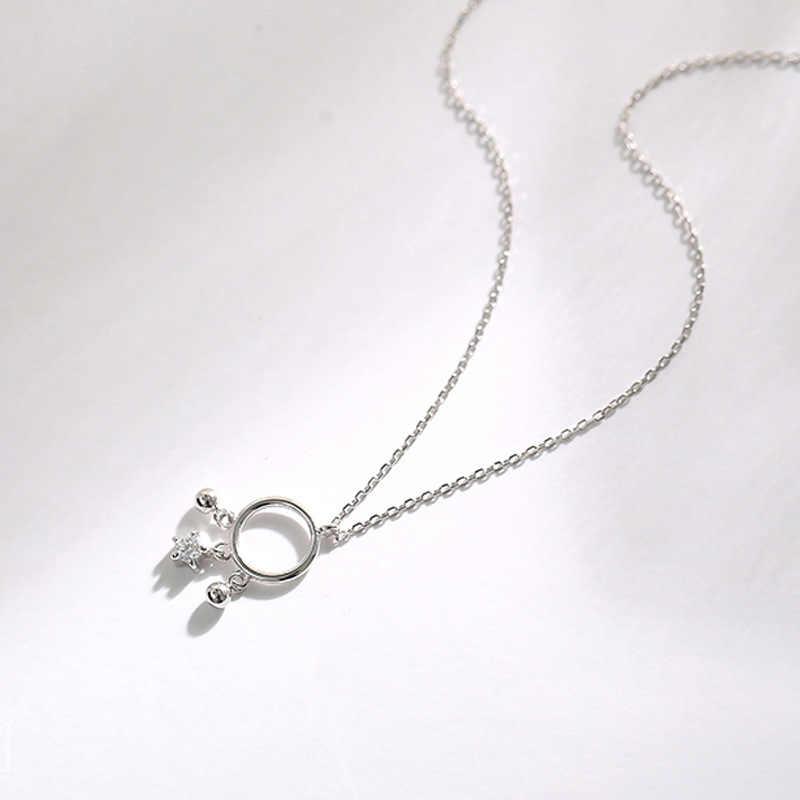 Srebrny Catcher z piór naszyjniki 925 AAA cyrkon gwiazdy Ball wisiorki naszyjnik dla kobiet moda dziewczyna biżuteria prezenty