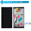 4.3 inch For Nokia Lumia 720 LCD Display Touch Screen Digitizer Assembly with Frame +Tools
