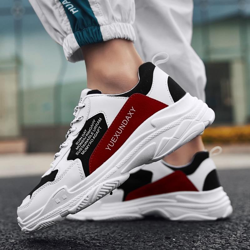 Red amp; Marche Taille C995 Grande Zapatos Automne Hiver Mode Chaussures Augmentation 44 C995 Fond Casual Hombre Black Épais Hommes Sneaker white p8AgwH