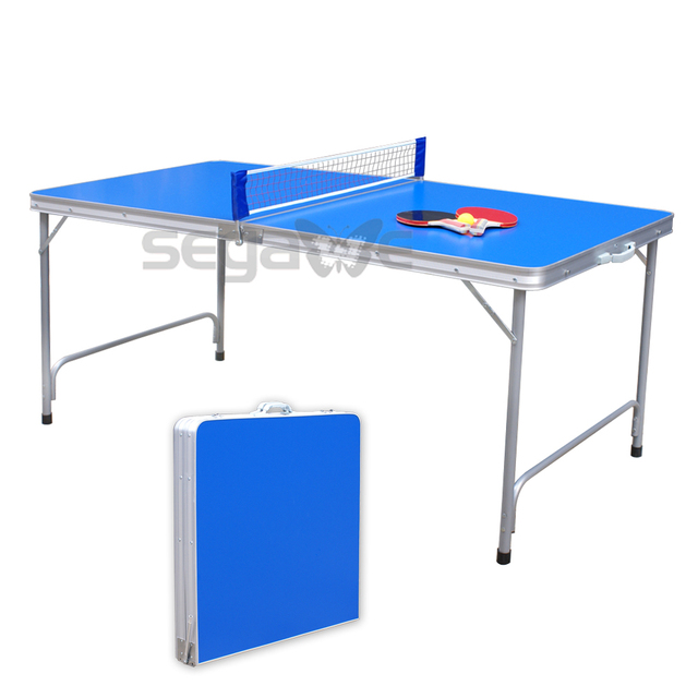Superieur Practice Table Tennis Ping Pong Game Table Indoor Folding Midsize 2 Wood  Paddle