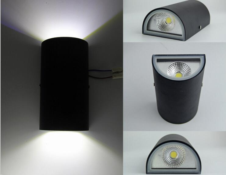 10pcs Led 2*7W Double 14W COB Garden Lights Up And Down Wall Light Waterproof Surface Mounted Indoor Outdoor Lamp Wandlamp