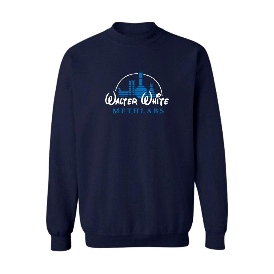 New Meth Maker Walter White Mens Hoodies and Sweatshirts Winter Warm Street Wear Skateboards Black Gray Tracksuit Cloths xxs