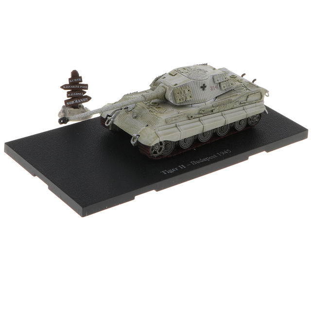 US $18 77 22% OFF|1:72 Scale Alloy WWII German Tiger II Budapest 1945 Tank  Destroyer Army Vehicles Model Toy Showcase Display-in Diecasts & Toy
