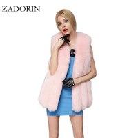 2017新しい高級色の毛皮のコートエレガントな女性フェイクファーベスト高品質ショートレッドピンクフェイクファーコートマントのファムfourrure