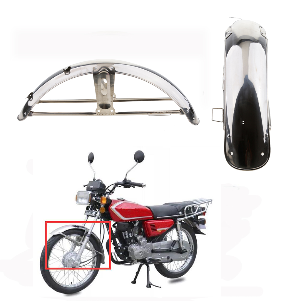 Motorcycle Stainless Steel Front Fender Mudguard Mud Guard Wheels Cover For Honda CG125 Motorcycle Front Fender