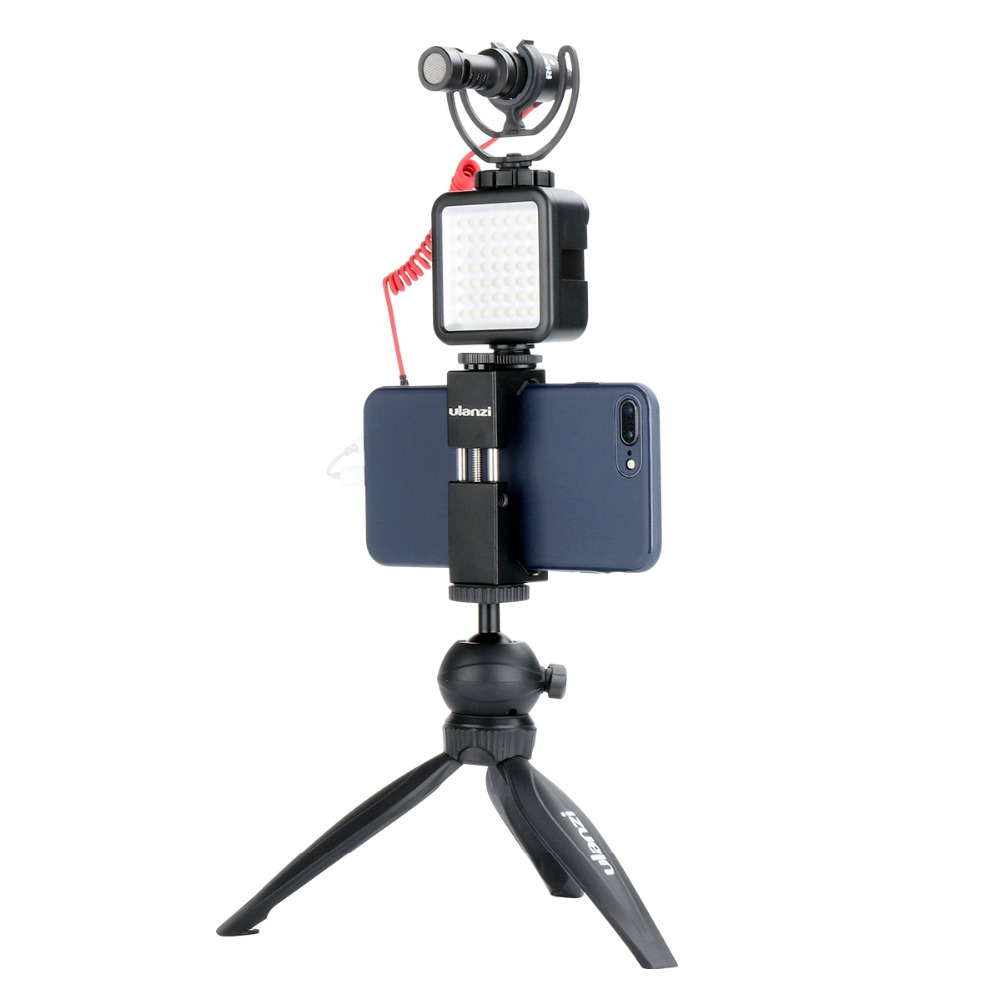 Mini LED Video Light on Camera with 3 Hot Shoe for DSLR Camcorder Mini DVR,Night Photographic Fill Lighting for Nikon Canon Sony