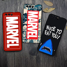 Cute Cartoon Red Case Fundas For Huawei P10 Case Cover For Huawei P 10 Case Soft Silicon Black Skull Marvels Batman Phone Case(China)