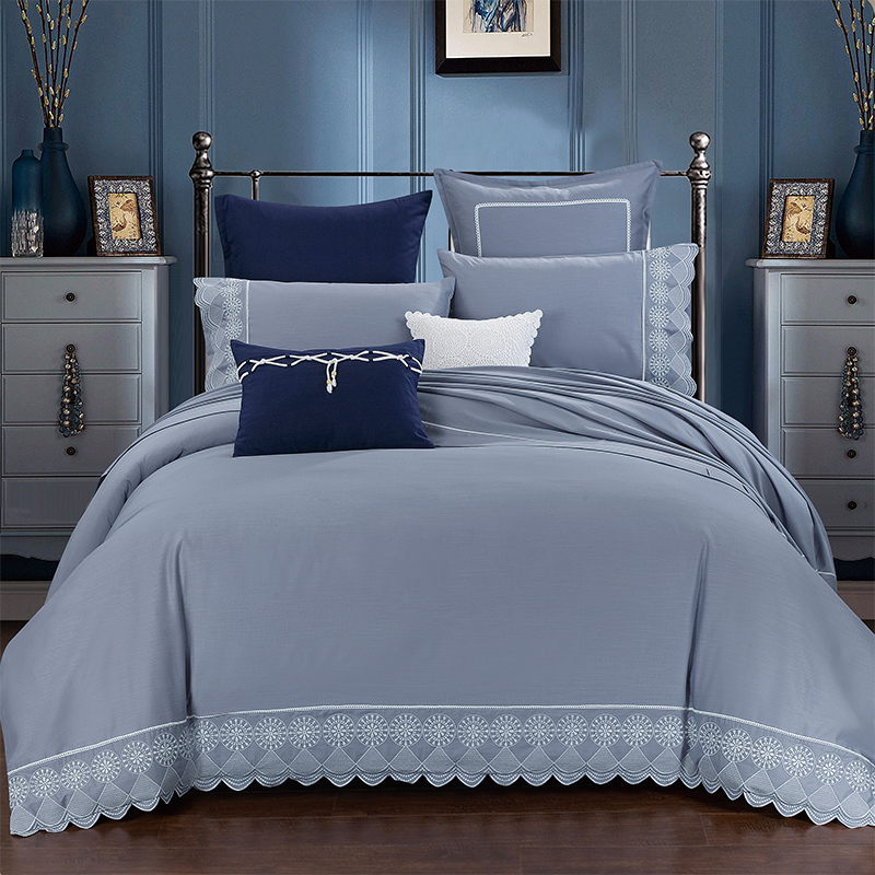 Linen Cotton Embroidered Luxury Grey Silver Bedding sets Queen King size Bed set 4Pcs Duvet cover Bed sheet set Pillowcase 36Linen Cotton Embroidered Luxury Grey Silver Bedding sets Queen King size Bed set 4Pcs Duvet cover Bed sheet set Pillowcase 36
