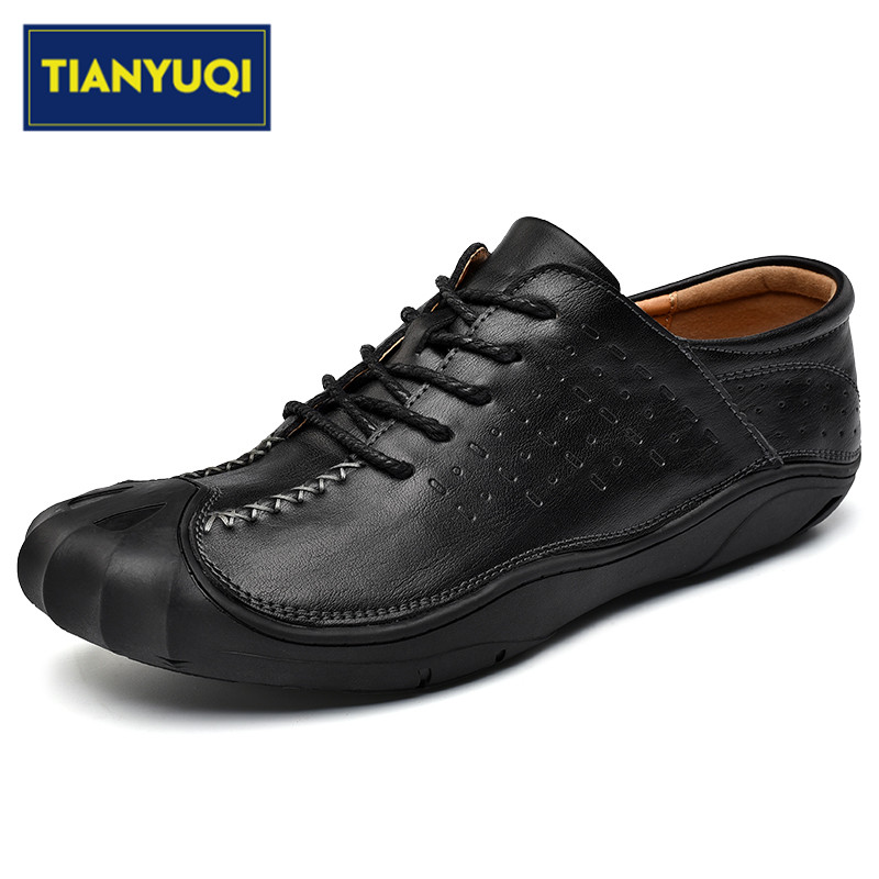 Tianyuqi High Quality Men Walking Shoes Genuine Leather