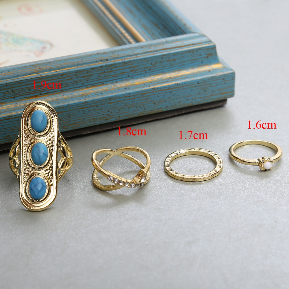 HTB1KkgoNpXXXXamXVXXq6xXFXXXM Stylish 10-Pieces Retro Boho Spirituality Knuckle Ring Set For Women - 4 Sets