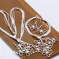 Free Shipping Wholesale Fashion Jewelry Set,Taiji Butterfly 2 Piece set,925 Sterling silver Necklace&Bracelet&Earrings T113