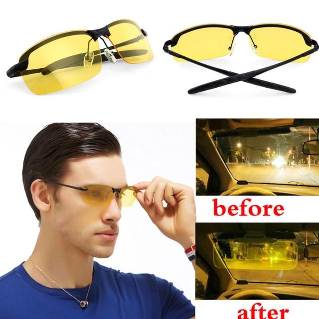 183136c46f0b7 HD Noite óculos de Condução Óculos Polarizados Óculos de Sol Óculos de Visão  Noturna Óculos Anti