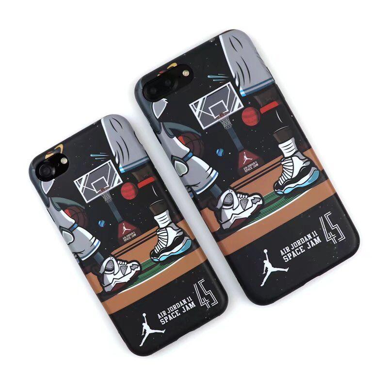 64cd75d60fa3ad Hot NBA Basketball Michael Air Jordan 11 Space Jam 45 Cell Phone For iphone  6 6s 6Plus 6sPlus 7 7Plus 8 8Plus X Men Cartoon Case Cover