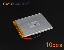 10pcs/Lot 3.7V 4000mAh Polymer Li-ion Battery For Tablet PC iPAQ E-Book Portable DVD Consumer electronics safety lamp047292