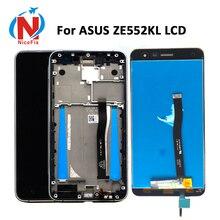 Asus ZenFone 3 için ZE552KL LCD ekran paneli dokunmatik ekran Digitizer meclisi için çerçeve ile ZE552KL Z012D Z012DC Z012DA LCD