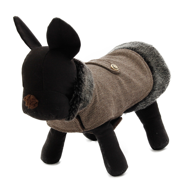 Free Shipping Luxury Suede Fabric Pet Dog Clothes Winter Warm Dog Jacket Pet Dog Coat 4Colors Cat Puppy Apparel