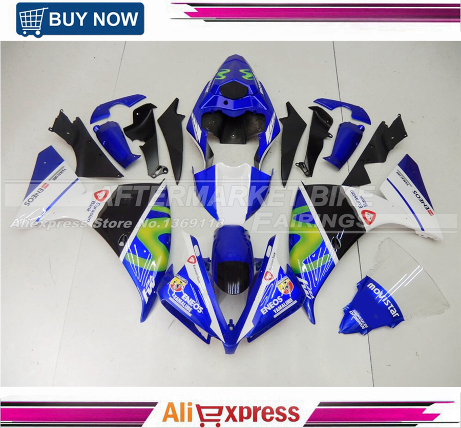 Complete Fairings For Yamaha YZF R1 12 13 14 2012 2013 2014 Injection ABS Plastic Motorcycle Fairing Kit ABS Cowling Blue