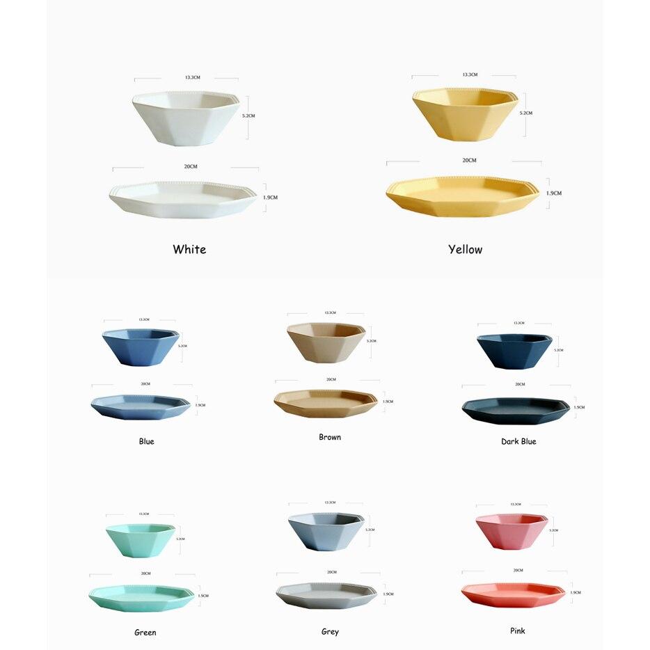 2 Teile/satz Moderne Bunte Keramik Geschirr Set Bone China Schüssel +  Schüssel Haushalt Frühstück Platte Salatschüssel Geschirr Kinder In 2  Teile/satz ...