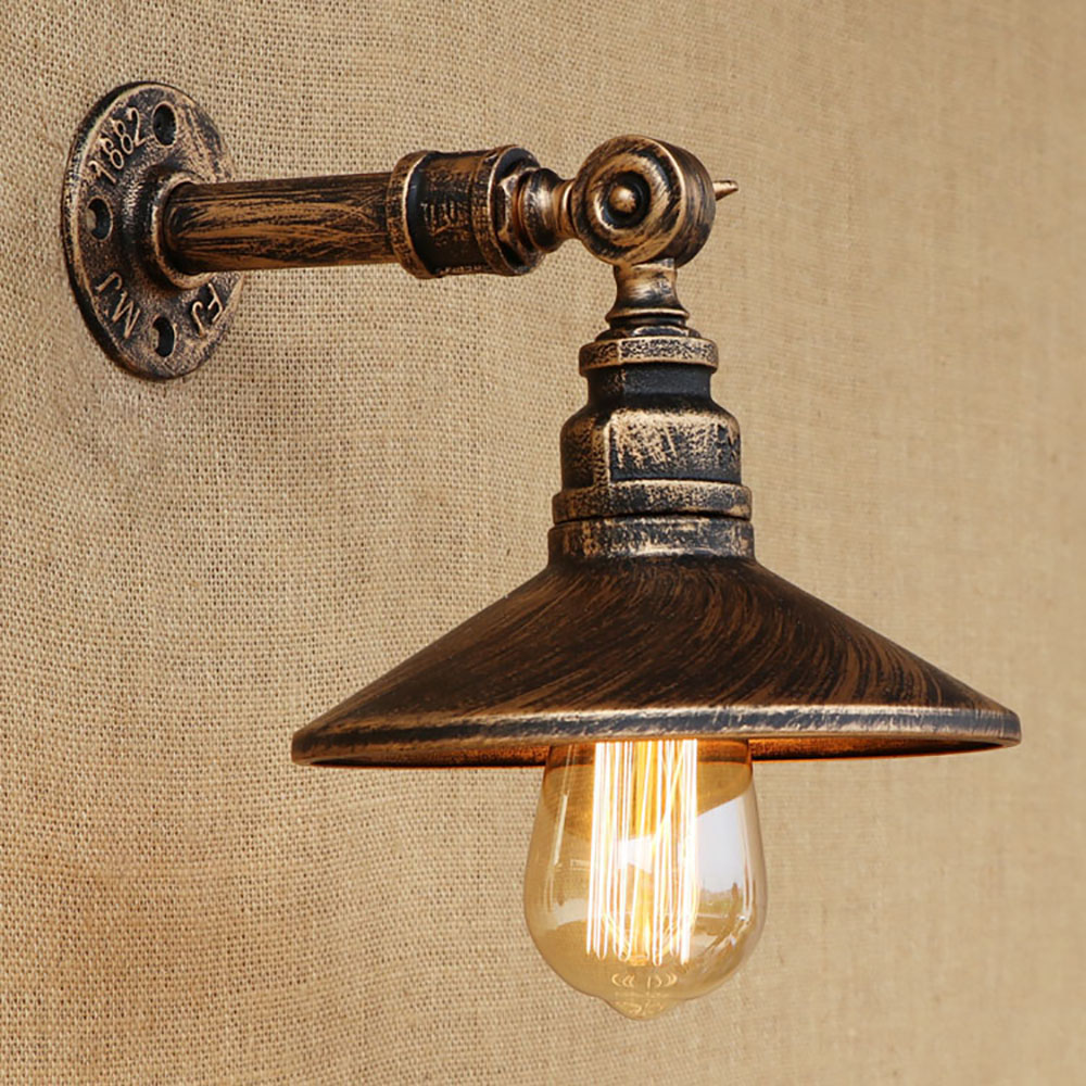 Steampunk Loft 4 color iron water pipe retro wall lamp Vintage e27 / e26 sconce lights for living room bedroom restaurant bar retro water pipe steampunk vintage wall light for dining room bar home decoration american industrial loft e27 wall sconce