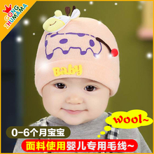 TDX C39 Free shipping Baby hat baby hat 0 – 3 – 6 months old pocket spring and autumn hat newborn hat yarn tire cap